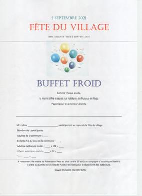 Information :  Fête du Village
