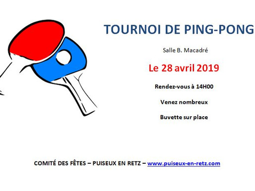 Animation : Tournoi de Ping-Pong