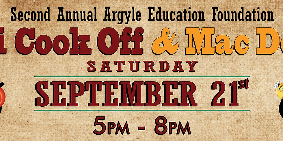 Argyle Education Foundation Chili Cook-Off & Mac Down