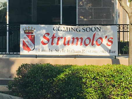 Coming Soon, Strumolo's!