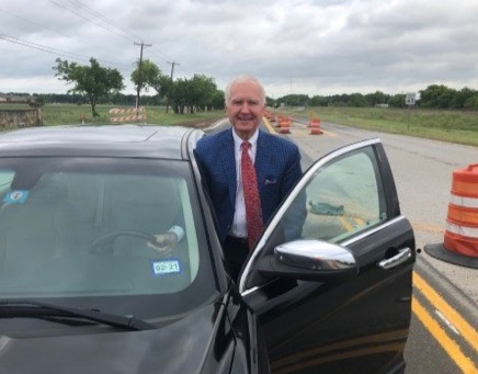 Justin Judge, Tom Hobbs is the first person to drive down the new HWY 156