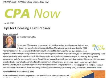 Choosing a Tax/Accounting Professional