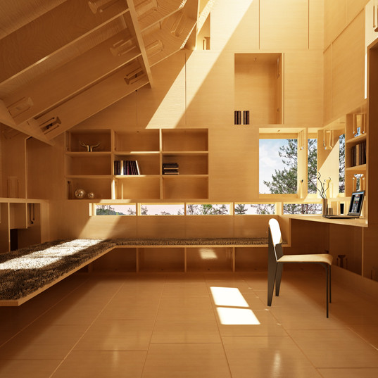 ClipHut Cabin Office _ Interior