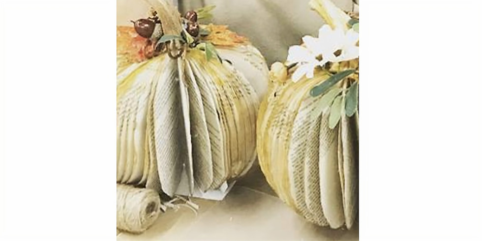 Private Event - Paper Book Pumpkins