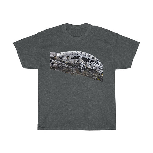 Blizzard Blue Tegu Mens Heavy Cotton Tee, Lizard, Reptile,