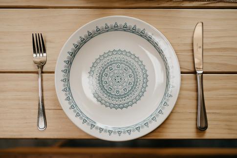 Vintage plates for hire Gisborne
