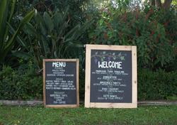 Hunter Gatherers wooden blackboards for hire gisborne
