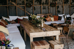 Hire wooden table Gisborne events