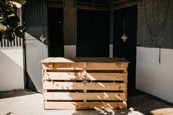 crate pallet wood bar for hire hunter gatherers gisborne