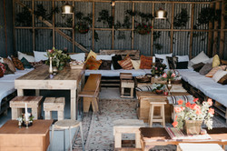 Wooden pallet furniture for hire Gis