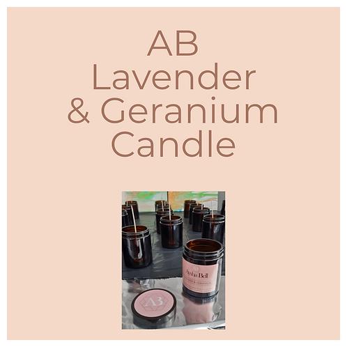 AB Lavender & Geranium,  Candle 180ml