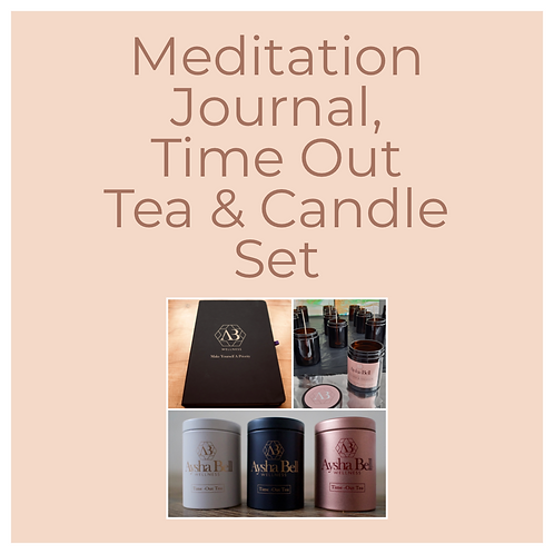 Meditation Journal Tea Time & Candle Set