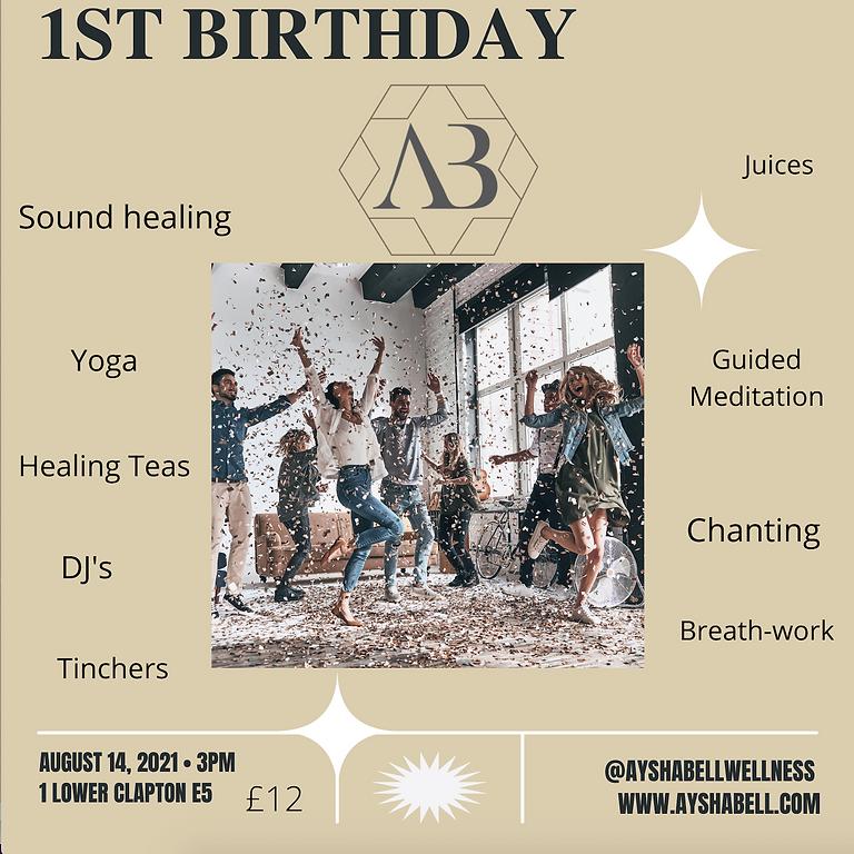 AB Wellness 1st Birthday party