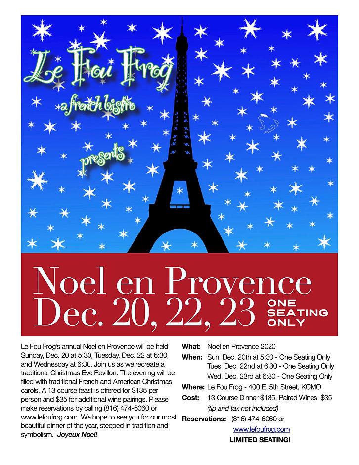Le Fou Frog Noel en Provence Poster