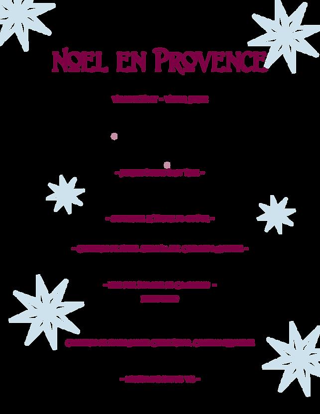 Le Fou Frog Noel en Provence Menu 2020