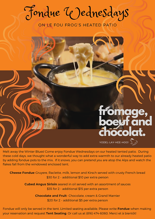 Le Fou Frog Fondue Wednesdays