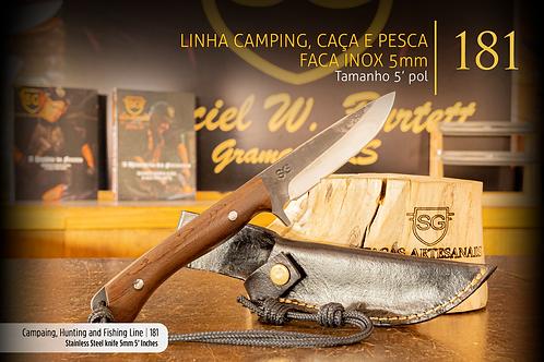 Linha Camping, Caça e Pesca - Faca INOX 5mm