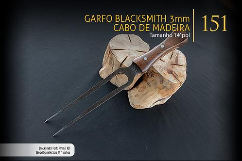 Garfo Blacksmith 3mm - Cabo de Madeira