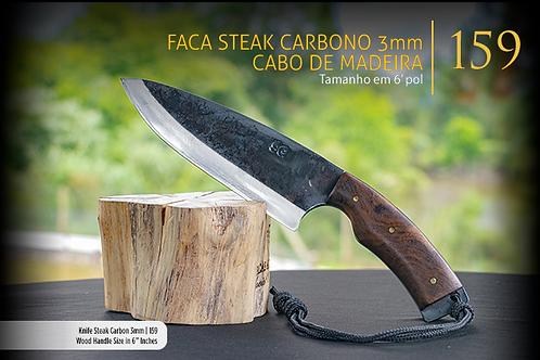 Faca Steak Carbono 3mm - Cabo de Osso