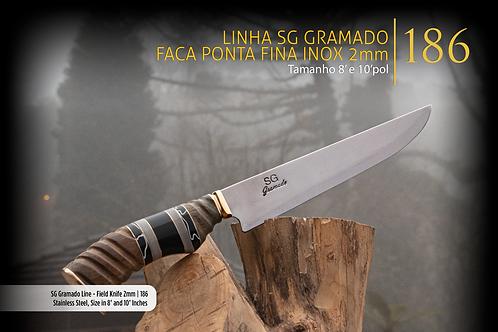 Faca SG Gramado Ponta Fina Inox 2mm