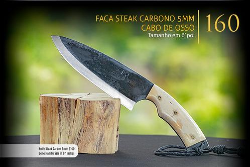 Faca Steak Carbono 5mm - Cabo de Osso