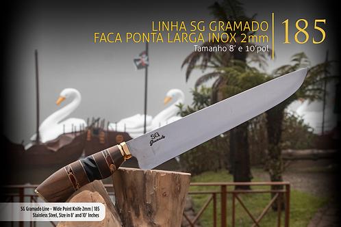 Faca SG Gramado Ponta Larga Inox 2mm