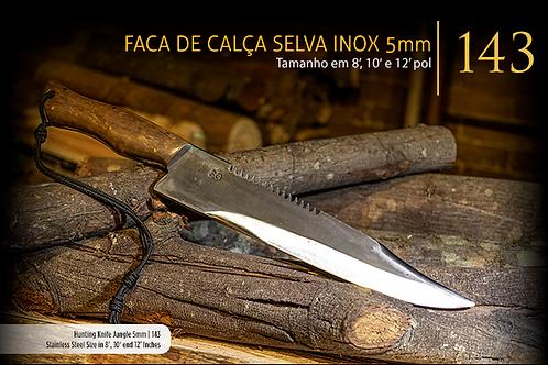 FACA DE CAÇA SELVA INOX 5MM