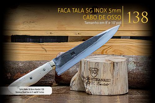FACA TALA SG INOX 5MM CABO DE OSSO