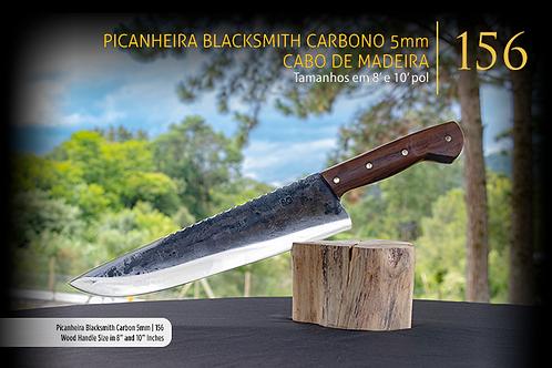 Picanheira Blacksmith Carbono 3mm - Cabo de Madeira