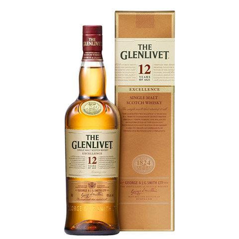 The Glenlivet 'Excellence' 12 Year Old Single Malt Scotch Whisky