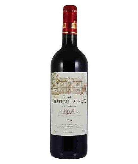Chateau Lacroix 2016 Castillon Cotes de Bordeaux