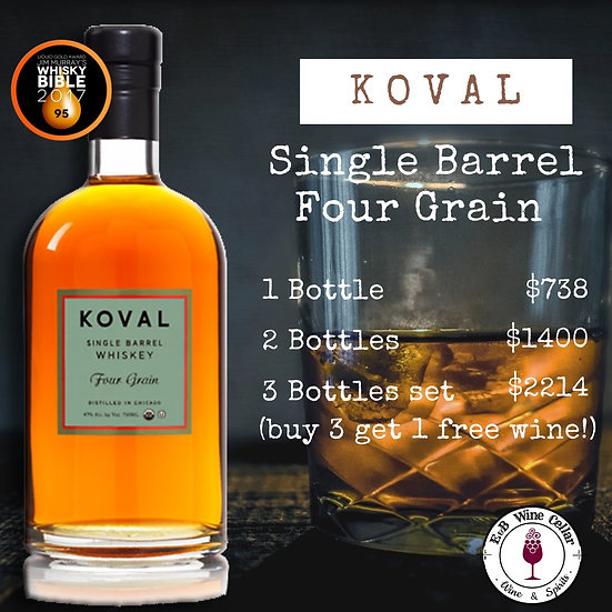 Koval Four Grain Single Barrel Whiskey