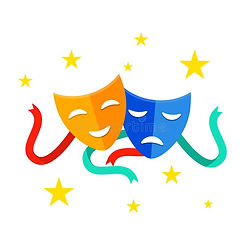 theater-mask-ribbons-comedy-tragedy-mask