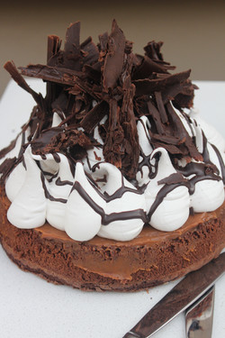 Brownie con merengue italiano