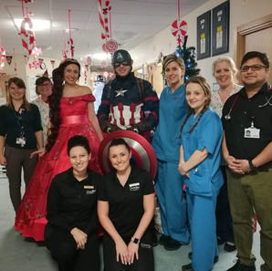 Hospital Visits with Captain America