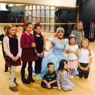 Cinderella at a 4th Birthday Party