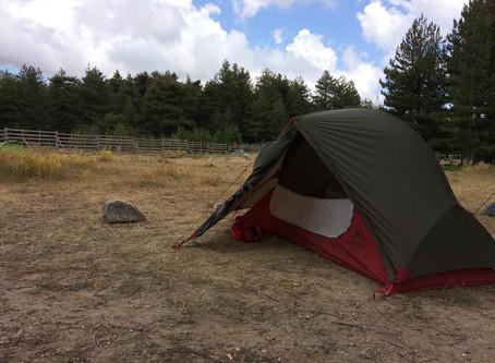 Report attrezzatura. La tenda