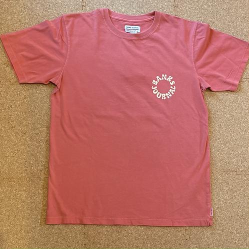 <BANKS>半袖Tシャツ [WASHED RED]