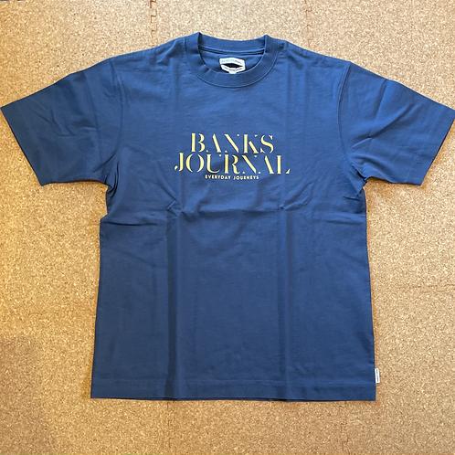 <BANKS>半袖Tシャツ [INSIGNIA BLUE]