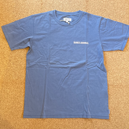 <BANKS>半袖Tシャツ [NEWPORT BLUE]