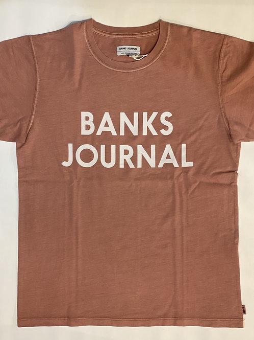 <BANKS>TシャツSMOKE PINK