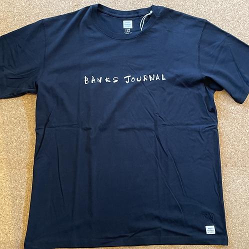 <BANKS>半袖Tシャツ [DIRTY BLACK]