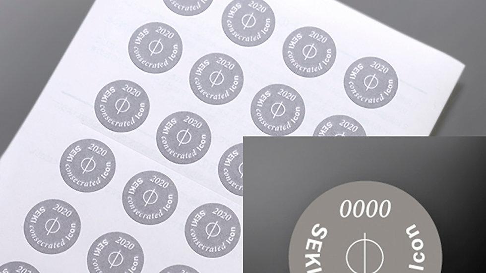 Icon seal Dark(ミニ)sheet