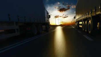 Heavy truck night