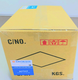 shipping box with label