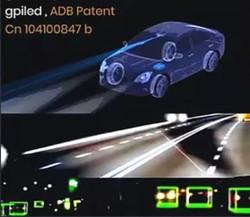 Pixel LED headlight ADB