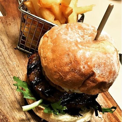 Burger & chips taste better in The Bay/Leaf