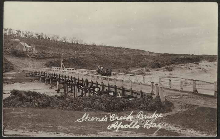 Skenes creek bridge 1900's