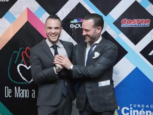 Kuno Becker y Miguel Mier en presentación de fundación De Mano a Mano