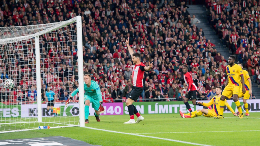 BARCELONA KNOCKED OUT OF COPA DEL REY BY ATLETICO BILBAO